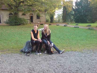 Studenten im Hof
